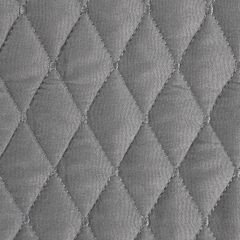 Pikowana narzuta na łóżko stalowy szary 200x220 cm - 200 X 220 cm - stalowy 5