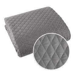 Pikowana narzuta na łóżko stalowy szary 200x220 cm - 200 X 220 cm - stalowy 6