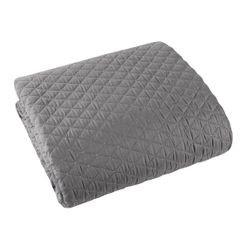 Pikowana narzuta na łóżko stalowy szary 200x220 cm - 200 X 220 cm - stalowy 2