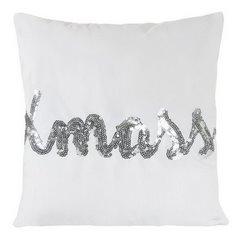 Poszewka na poduszkę 40 x 40 cm  x mass biało srebrna  - 40x40 - biały / srebrny 1