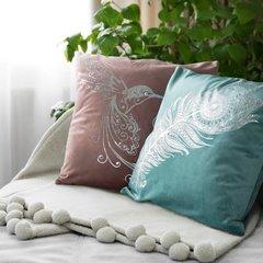 Poszewka dekoracyjna na poduszkę 45 x 45 kolor turkusowy - 45 X 45 cm - turkusowy 5