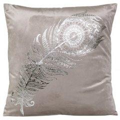 Poszewka dekoracyjna na poduszkę 45 x 45 kolor srebrny - 45 X 45 cm - srebrny 1