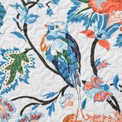 Narzuta pikowana kwiaty 170x210 cm - 170 X 210 cm - biąły/niebieski/czerwony 4