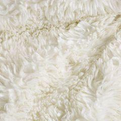 Narzuta na łóżko puszyste futerko 150x200 cm kremowa - 150 x 200 cm - kremowy/złoty 6
