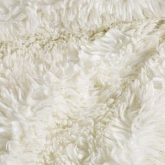 Narzuta na łóżko puszyste futerko 150x200 cm kremowa - 150 x 200 cm - kremowy/złoty 3