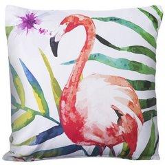 Poszewka na poduszkę z flamingiem 40 x 40 cm  - 40 X 40 cm - biały/mix kolorów 4