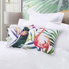 Poszewka na poduszkę kolorowy liść 40 x 40 cm  - 40 X 40 cm - biały/mix kolorów 6