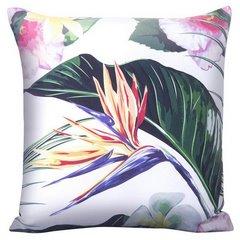 Poszewka na poduszkę kolorowy liść 40 x 40 cm  - 40 X 40 cm - biały/mix kolorów 4