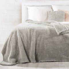 Poszewka na poduszkę 45 x 45 cm stalowa z futerkiem  - 45 X 45 cm - stalowy 6
