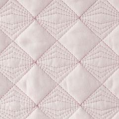 Narzuta na łóżko pikowana srebrna nić 170x210 cm różowa - 170 X 210 cm - j.różowy 3