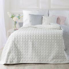 Narzuta na łóżko pikowana srebrna nić 170x210 cm biała - 170x210 - biały 4
