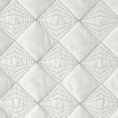 Narzuta na łóżko pikowana srebrna nić 170x210 cm biała - 170 X 210 cm - biały 5