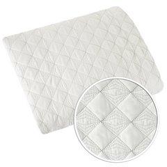 Narzuta na łóżko pikowana srebrna nić 170x210 cm biała - 170 X 210 cm - biały 6