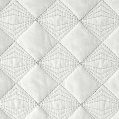 Narzuta na łóżko pikowana srebrna nić 170x210 cm biała - 170 X 210 cm - biały 3