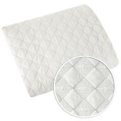 Narzuta na łóżko pikowana srebrna nić 170x210 cm biała - 170 X 210 cm - biały 4