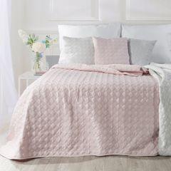 Narzuta na łóżko pikowana srebrna nić 200x220 cm różowa - 200x220 - różowy 4
