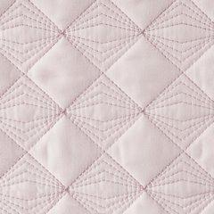 Narzuta na łóżko pikowana srebrna nić 200x220 cm różowa - 200 X 220 cm - jasnoróżowy 5