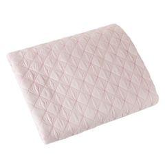 Narzuta na łóżko pikowana srebrna nić 200x220 cm różowa - 200x220 - różowy 2