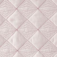 Narzuta na łóżko pikowana srebrna nić 200x220 cm różowa - 200 X 220 cm - jasnoróżowy 3