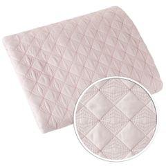 Narzuta na łóżko pikowana srebrna nić 200x220 cm różowa - 200 X 220 cm - jasnoróżowy 4