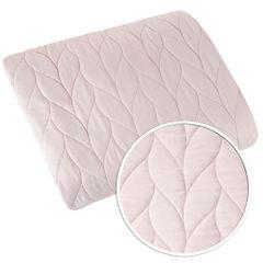 Narzuta na łóżko pikowana warkocz 170x210 cm różowa - 170x210 - różowy 2