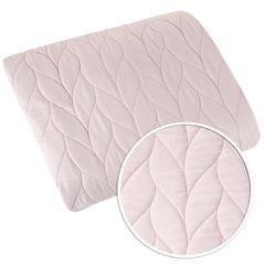 Narzuta na łóżko pikowana warkocz 200x220 cm różowa - 200 X 220 cm - j.różowy 4