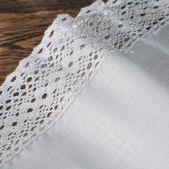 Srebrny obrus do jadalni z gipiurą 150x300 cm - 150 X 300 cm - Srebrny 4
