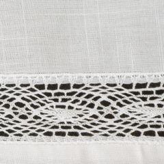 Biały bieżnik na stół do jadalni z mereżką 40x140 cm - 40 X 140 cm - biały 2