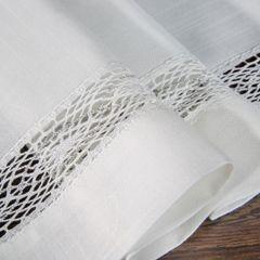Biały bieżnik na stół do jadalni z mereżką 40x140 cm - 40 X 140 cm - biały 3