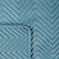 Narzuta welwetowa wykonana techniką hot press - 170 X 210 CM - niebieski 3