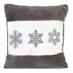 Poszewka na poduszkę śnieżynki 45 x 45cm szaro-biała - 45x45 - różowy 1