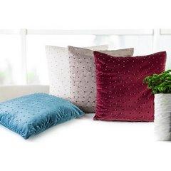 Poszewka na poduszkę 45 x 45 cm burgundowa z perełkami  - 45x45 - bordowy 5