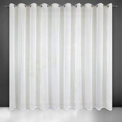 Firana kremowa 300 x 250 cm na przelotkach  - 300x250 - kremowy 1