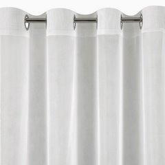 Firana kremowa 300 x 250 cm na przelotkach  - 300x250 - kremowy 5