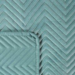 Minimalistyczna narzuta na łóżko miętowa 170x210 cm - 170 X 210 cm - miętowy 3