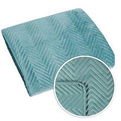 Minimalistyczna narzuta na łóżko miętowa 170x210 cm - 170 X 210 cm - miętowy 4