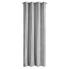 Zasłona welwetowa z wytłaczanymi pasami srebrna 140x250 cm przelotki - 140 X 250 cm - szary 5