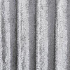 Zasłona welwetowa z wytłaczanymi pasami srebrna 140x250 cm przelotki - 140x250 - srebrny 3