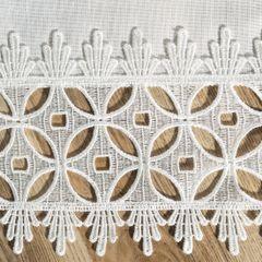 Biały klasyczny obrus z gipiurą do jadalni 80x80 cm - 80 X 80 cm - biały 3