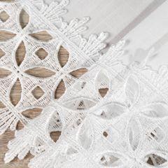 Biały klasyczny obrus z gipiurą do jadalni 80x80 cm - 80 X 80 cm - biały 4