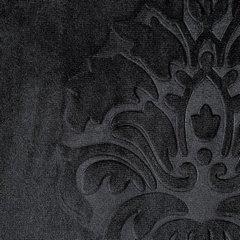 Zasłona welwetowa czarna z ornamentowym wzorem 140x250 cm przelotki - 140x250 - czarny 3