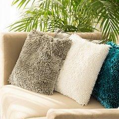 Poszewka na poduszkę włosie shaggy srebrna 40 x 40 cm  - 40 X 40 cm - srebrny 5
