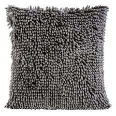 Poszewka na poduszkę włosie shaggy stalowoszara 40 x 40 cm  - 40 X 40 cm - stalowy 1