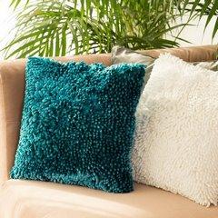 Poszewka na poduszkę włosie shaggy miętowa 40 x 40 cm  - 40 X 40 cm - miętowy 9