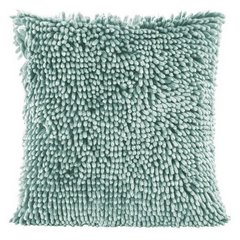 Poszewka na poduszkę włosie shaggy miętowa 40 x 40 cm  - 40 X 40 cm - miętowy 5