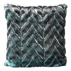 Poszewka na poduszkę 45 x 45 cm czarno-turkusowa piękny wzór  - 45x45 - turkusowy / czarny 1