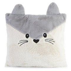 Poszewka na poduszkę zwierzątko z uszkami 45 x 45 cm kremowo srebrna  - 45x45 - kremowy / srebrny 1