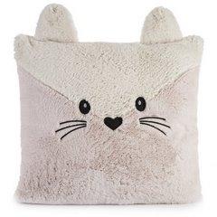 Poszewka na poduszkę zwierzątko z uszkami 45 x 45 cm kremowo różowa  - 45 X 45 cm - różowy/jasnobeżowy 4