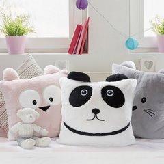 Poszewka na poduszkę 45 x 45 cm zwierzątko z uszkami kremowa  - 45x45 - kremowy 3