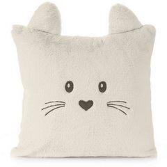 Poszewka na poduszkę 45 x 45 cm zwierzątko z uszkami kremowa  - 45x45 - kremowy 1